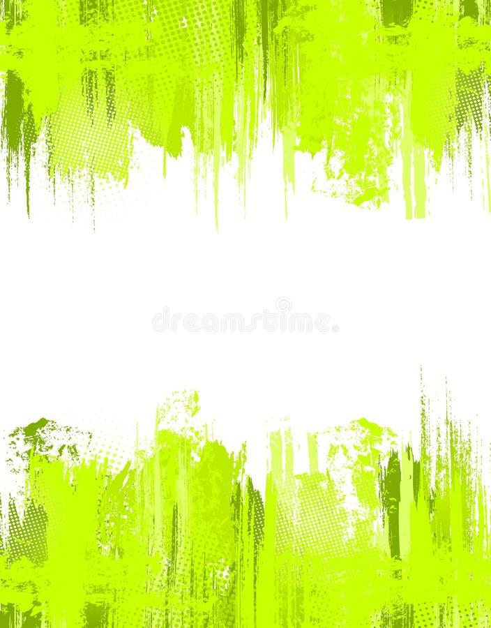 抽象背景绿色grunge模板向量 向量例证