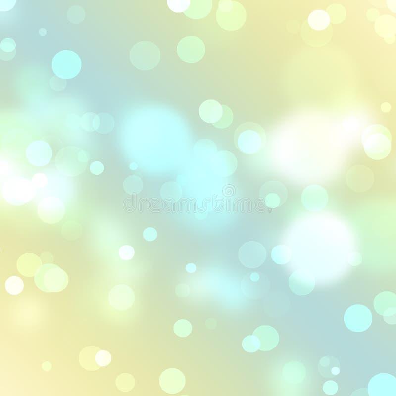 抽象背景美好的节假日光 向量例证