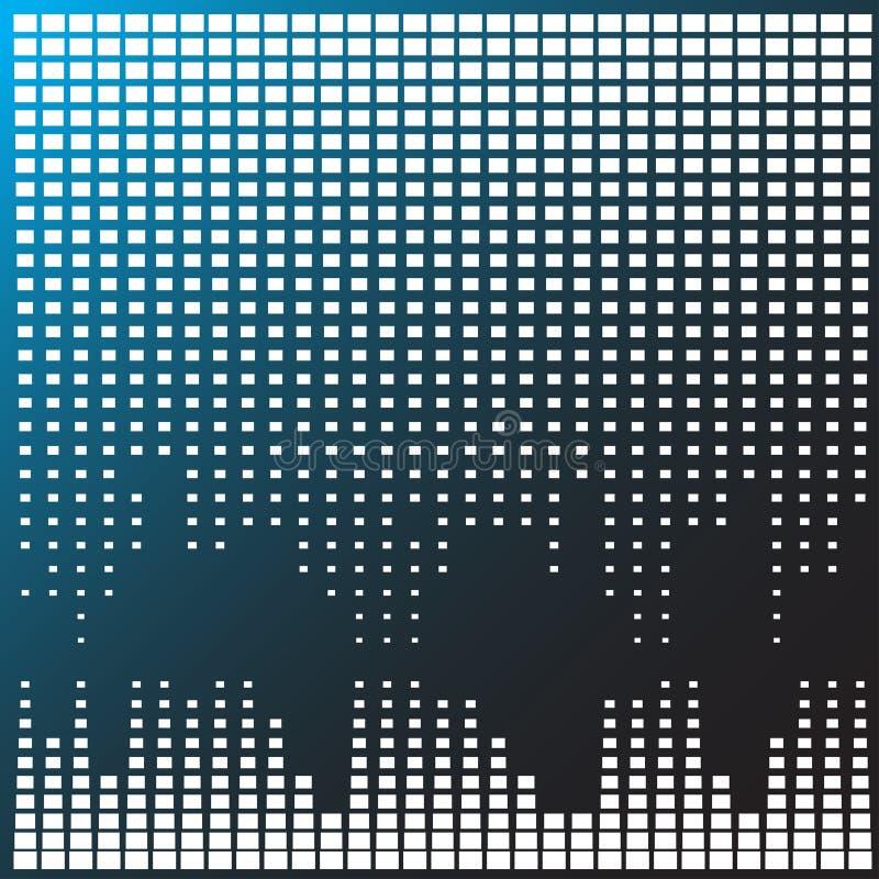 抽象背景艺术美好的数字波向量例证 库存例证