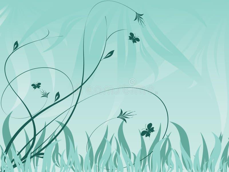 抽象背景花卉工厂向量 向量例证