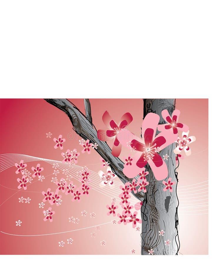 抽象背景花卉粉红色 皇族释放例证