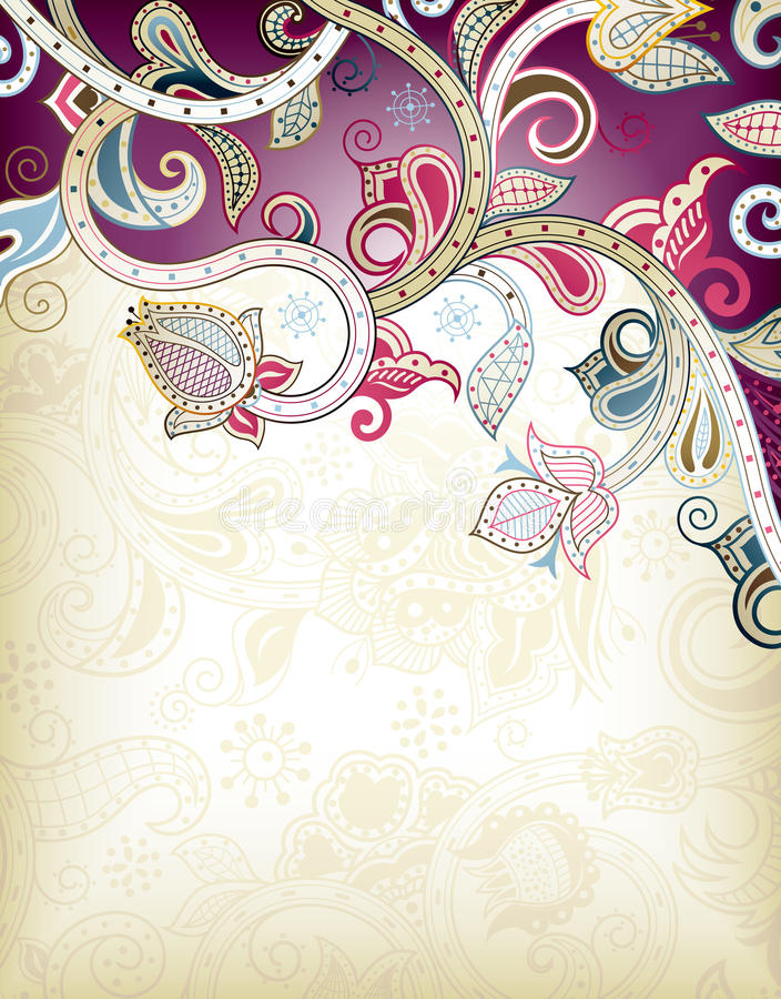 抽象背景花卉紫色 皇族释放例证