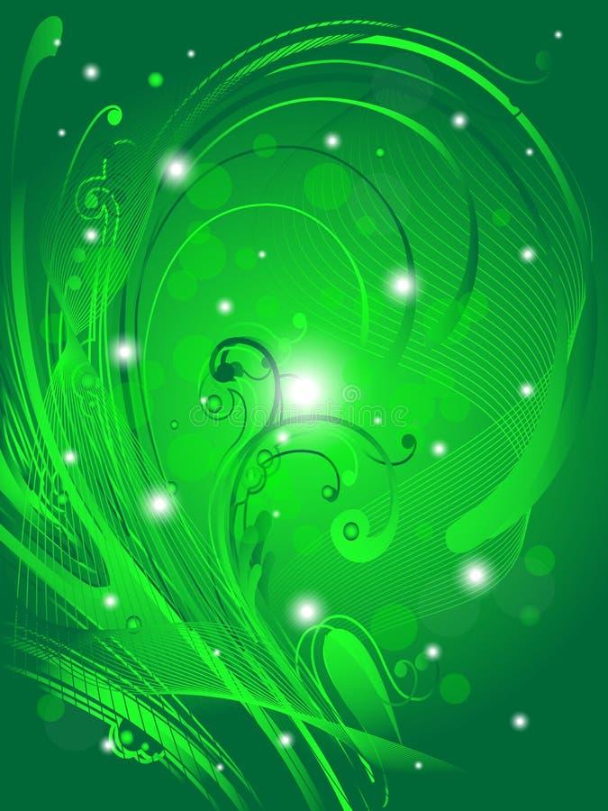 抽象背景花卉绿色 皇族释放例证