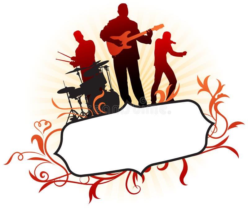 抽象背景范围框架音乐热带 向量例证