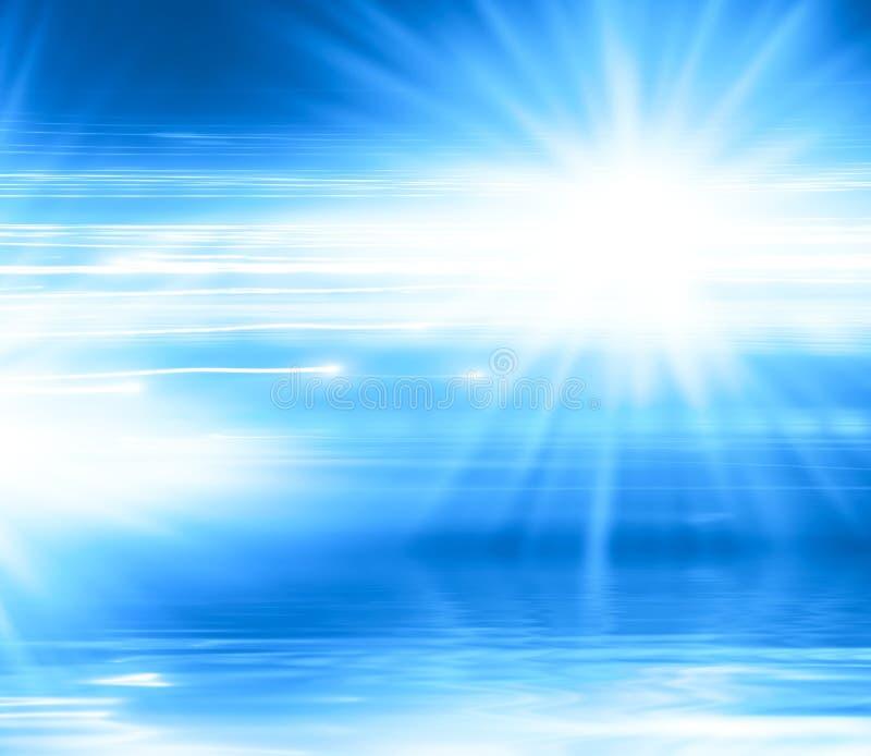 抽象背景蓝线光芒 皇族释放例证