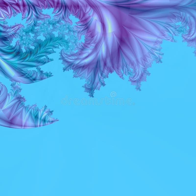 抽象背景蓝绿色紫色遮蔽细微的模板 库存例证