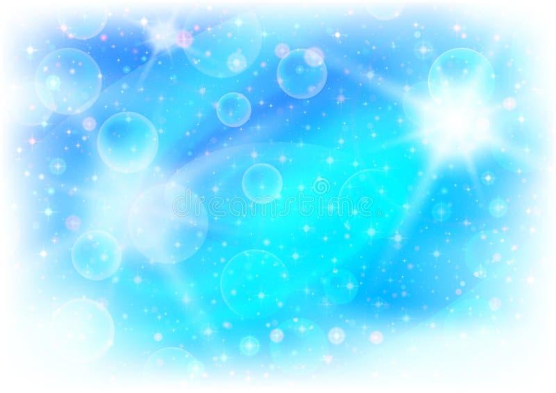 抽象背景蓝色光 向量例证
