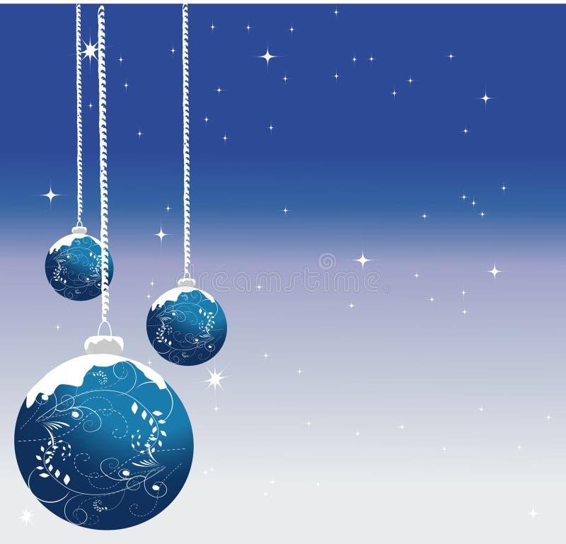 抽象背景蓝色圣诞节 向量例证