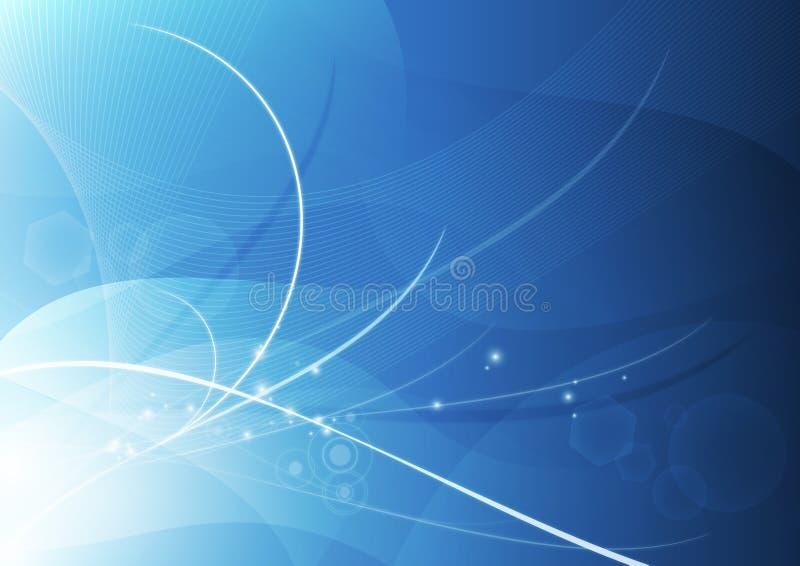 抽象背景蓝色墙纸 皇族释放例证