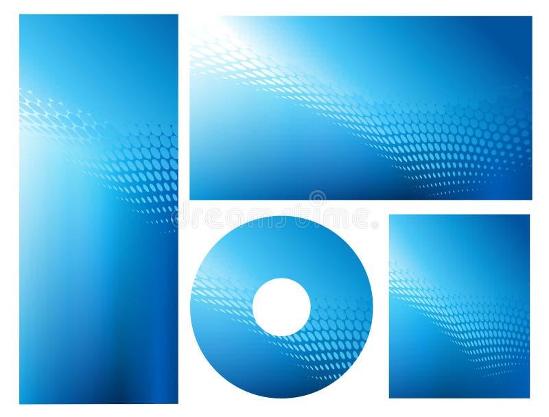 抽象背景蓝色明亮的图象集 向量例证