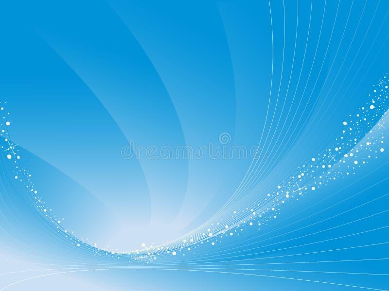 抽象背景蓝色曲线向量 皇族释放例证