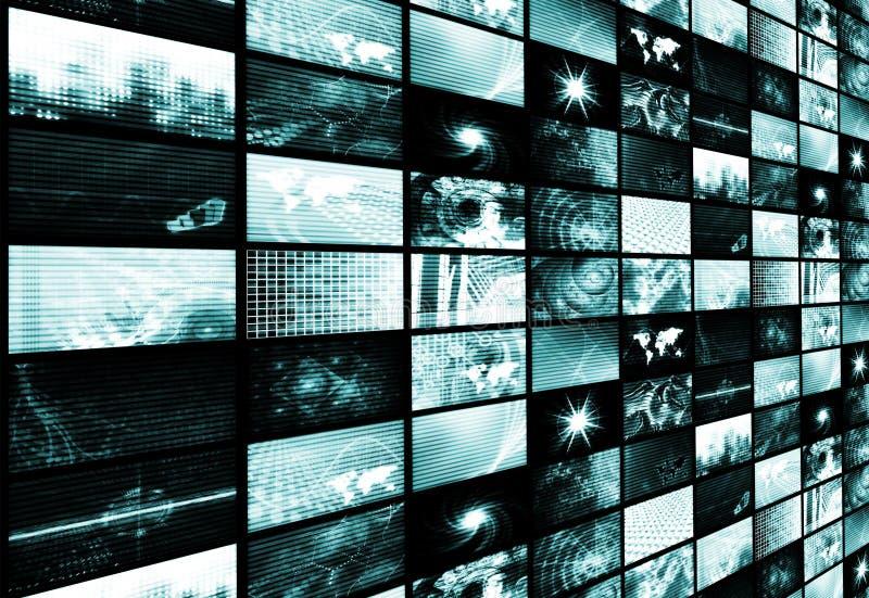 抽象背景蓝色未来派媒体 库存例证