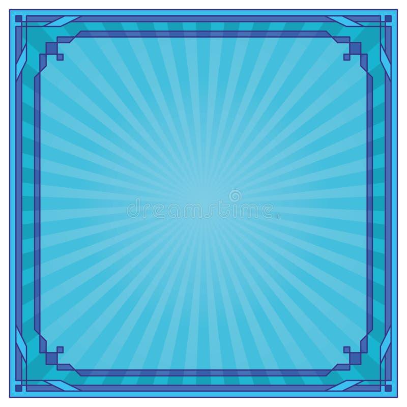 抽象背景蓝色框架 向量例证