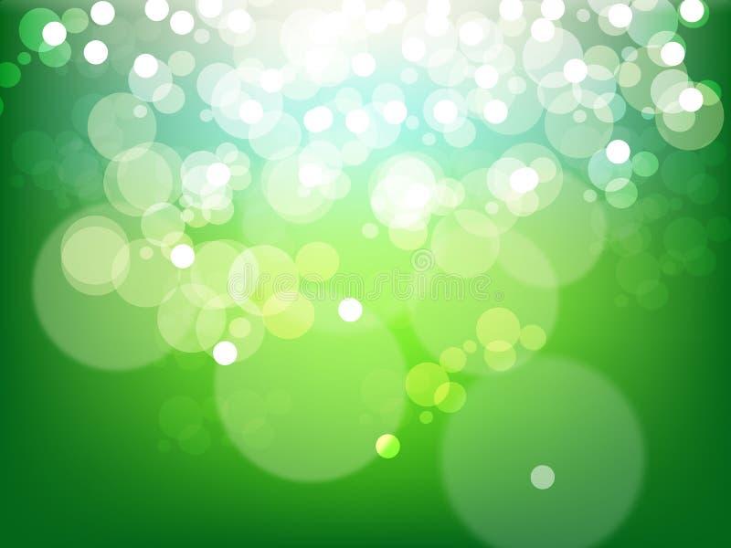 抽象背景蓝色泡影绿色 向量例证