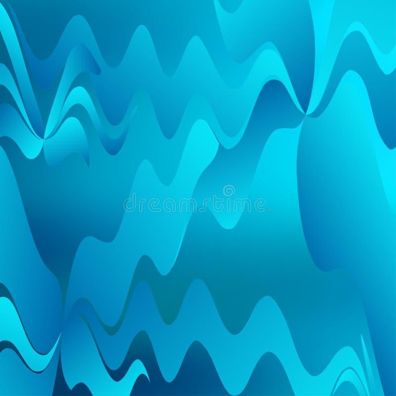 抽象背景蓝色波浪 库存例证