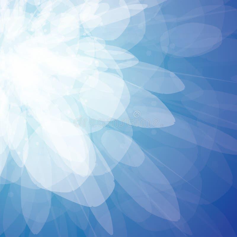 抽象背景蓝色激发向量 皇族释放例证