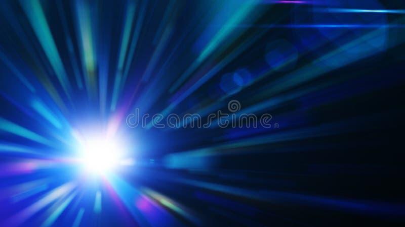 抽象背景蓝色爆炸 库存例证