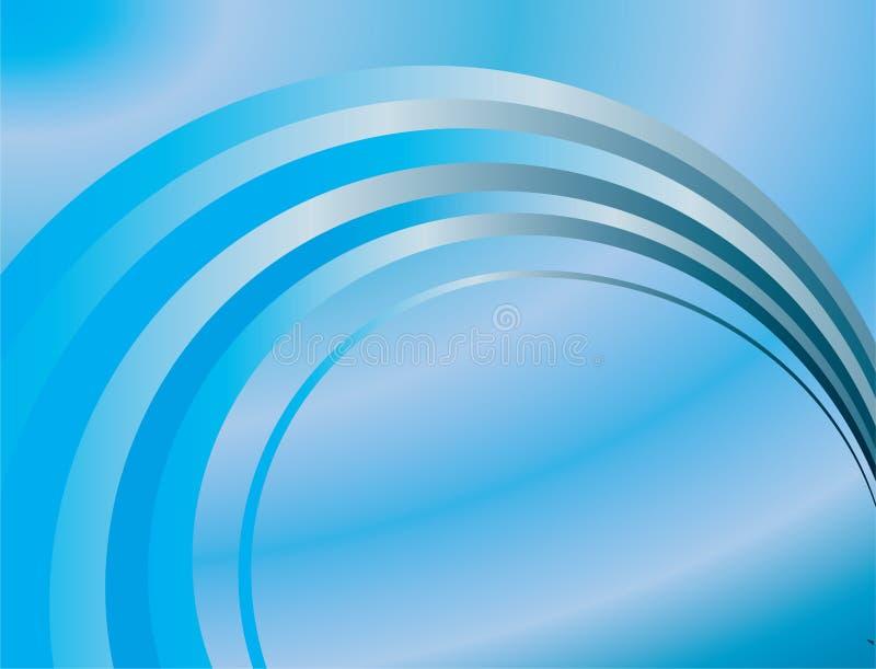抽象背景蓝色环形 库存例证