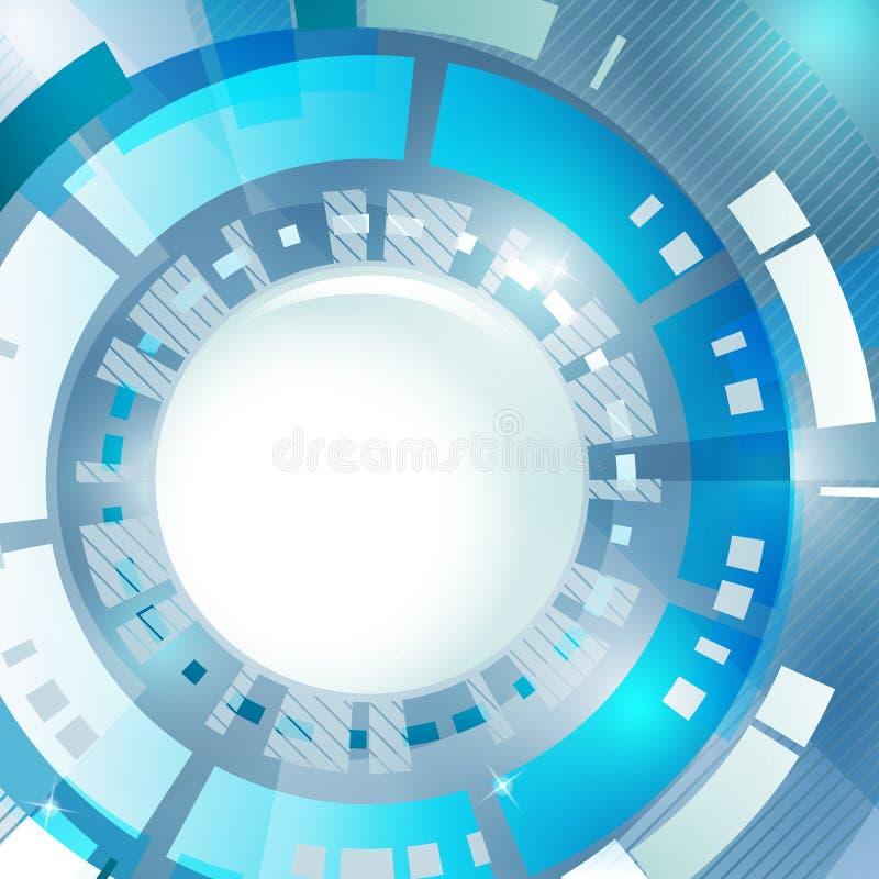 抽象背景蓝色现代 库存例证
