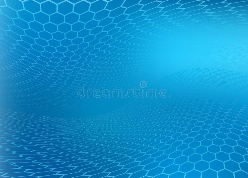 抽象背景蓝色现代 向量例证