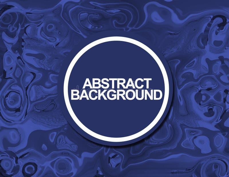 抽象背景蓝色生活大理石漩涡 皇族释放例证