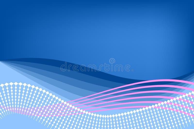 抽象背景蓝色粉红色 皇族释放例证