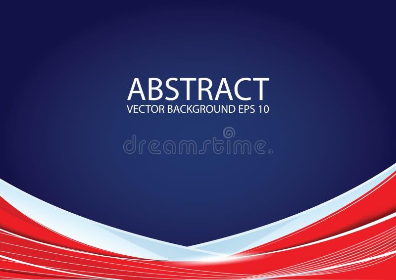 抽象背景蓝色红色 皇族释放例证