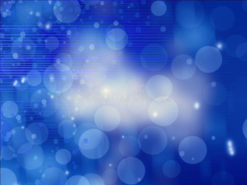 抽象背景蓝色被弄脏的线路 库存图片