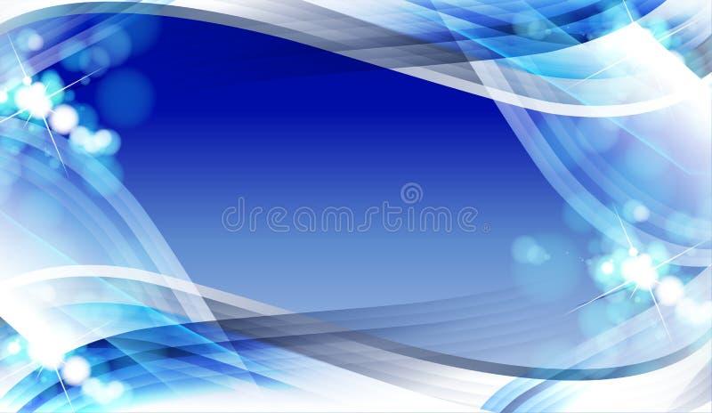 抽象背景蓝色设计 皇族释放例证