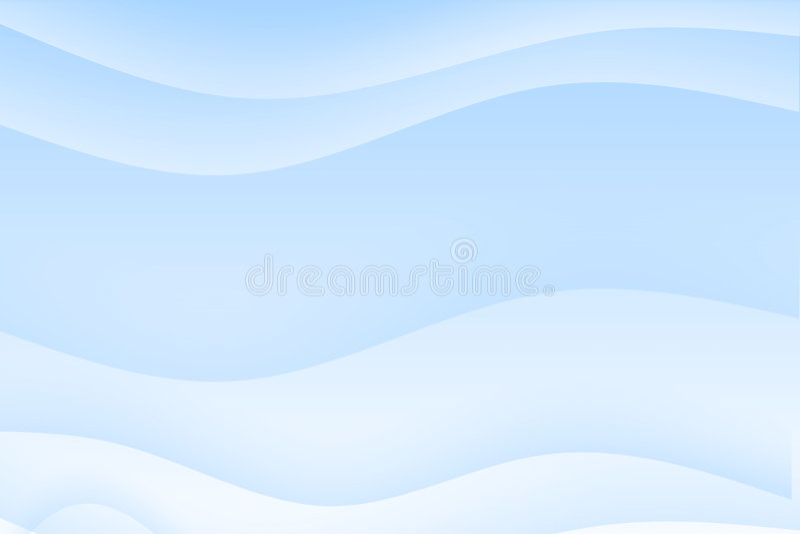 抽象背景蓝色轻安慰波浪 向量例证