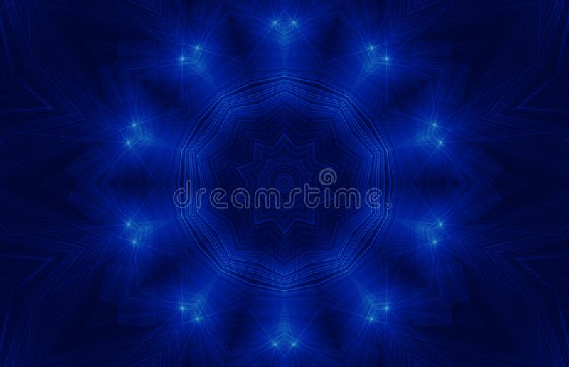 抽象背景蓝色黑暗 皇族释放例证