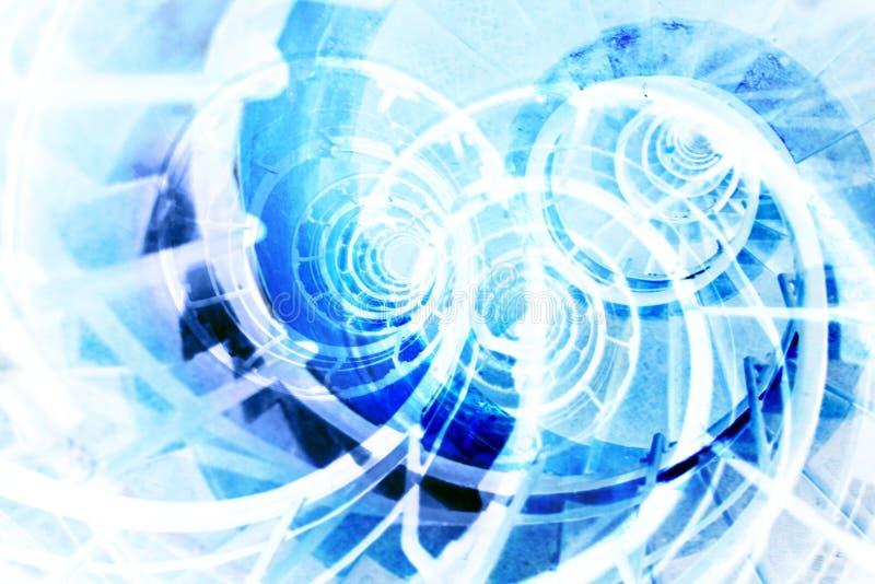 抽象背景蓝色 皇族释放例证