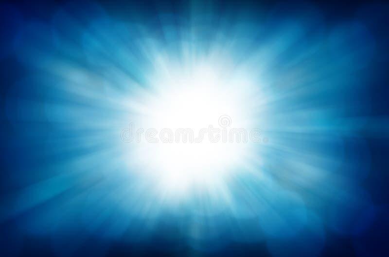 抽象背景蓝色bokeh光向量 库存图片