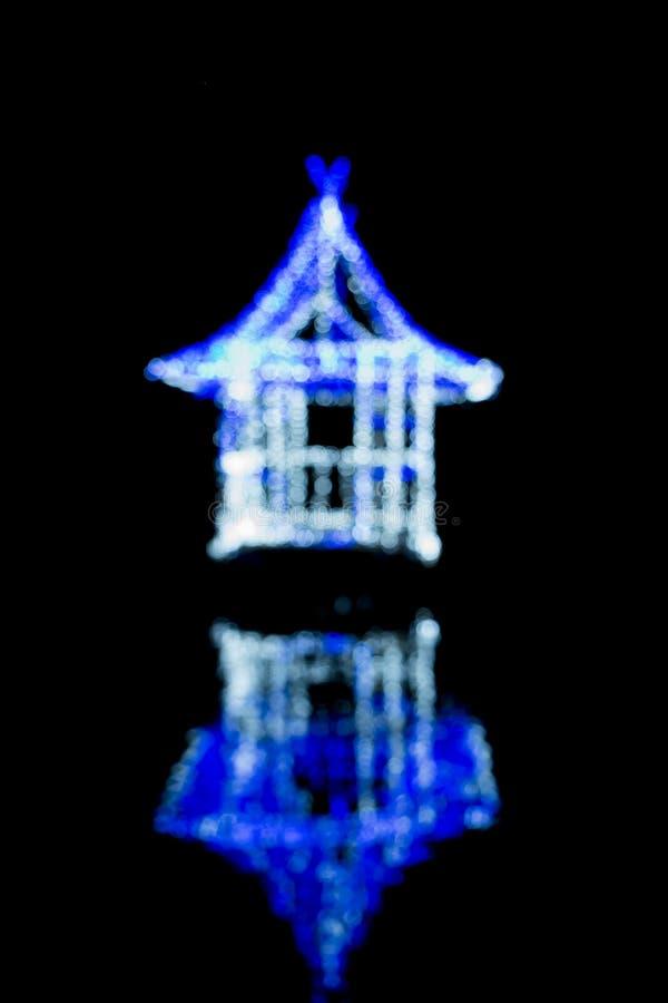 抽象背景蓝色bokeh光向量 免版税库存照片