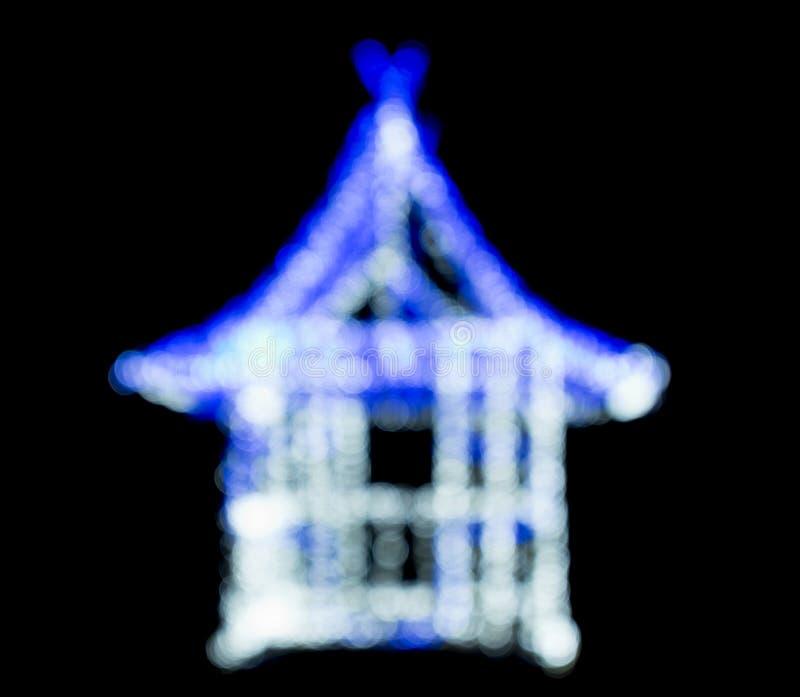 抽象背景蓝色bokeh光向量 库存照片