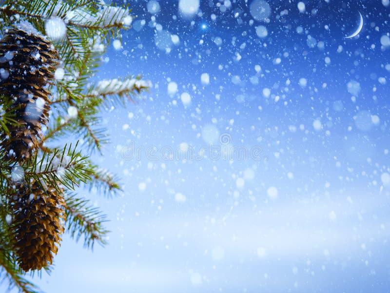 抽象背景蓝色bokeh圣诞节 免版税库存图片