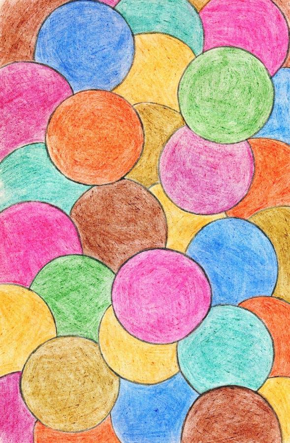 抽象背景蜡笔 装饰设计元素 凹道现有量纸张水彩 免版税图库摄影