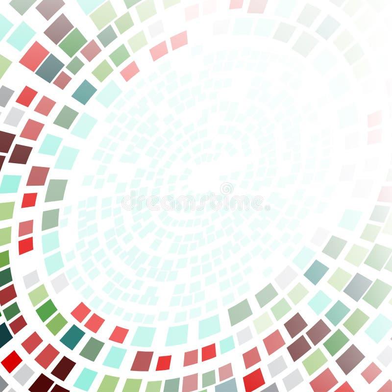 抽象背景被形成同心圆 库存例证