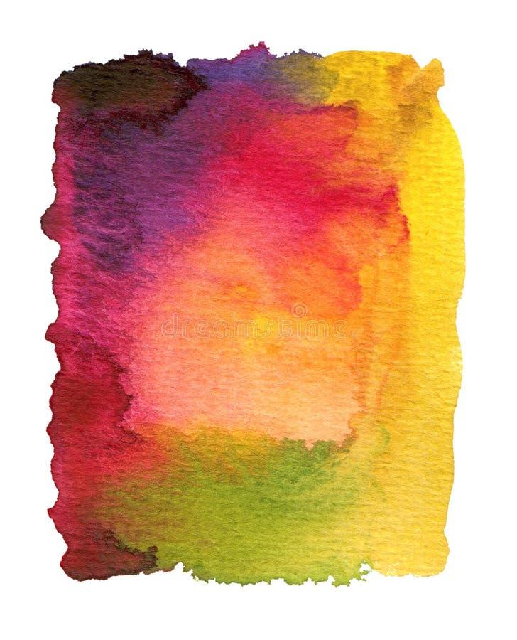 抽象背景被绘的水彩 库存照片