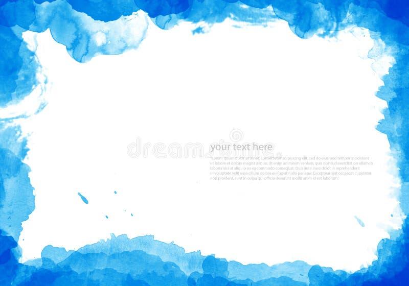 抽象背景被绘的水彩 向量例证