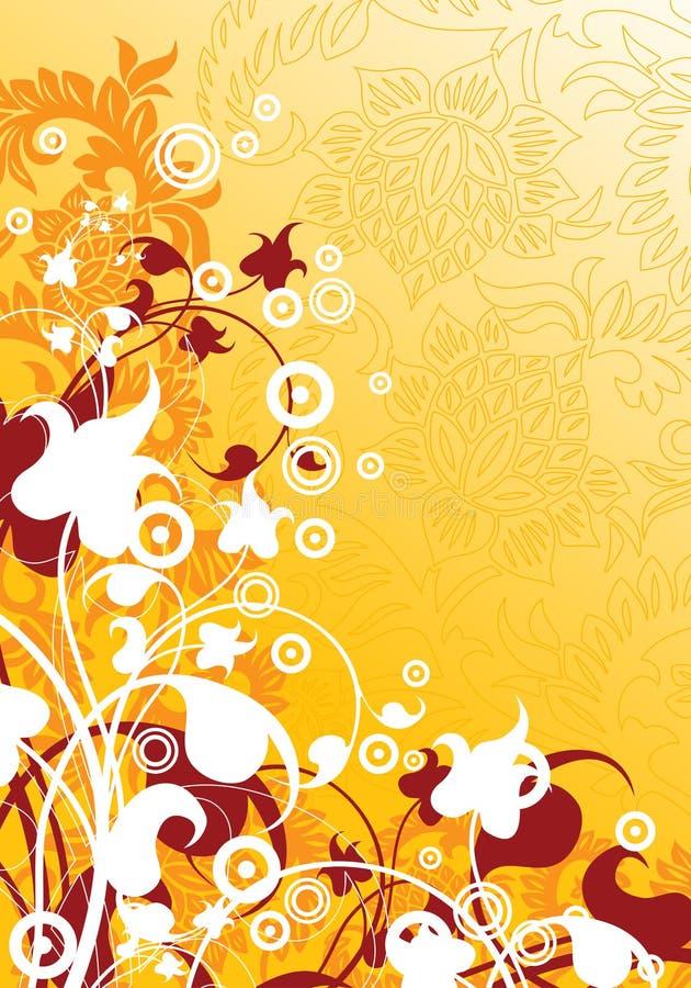 抽象背景要素花卉illustra现代向量 库存例证