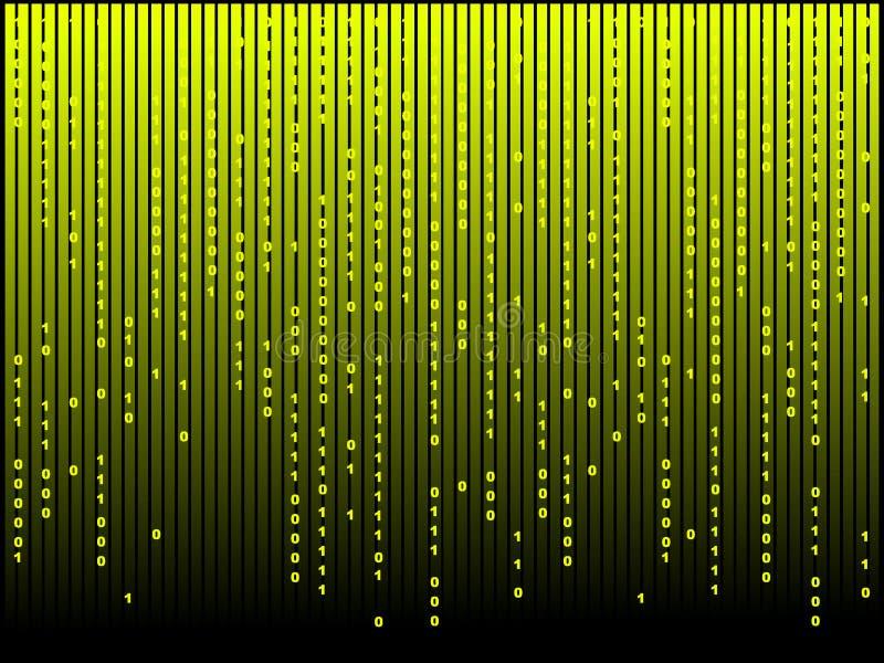 抽象背景计算机矩阵 库存例证