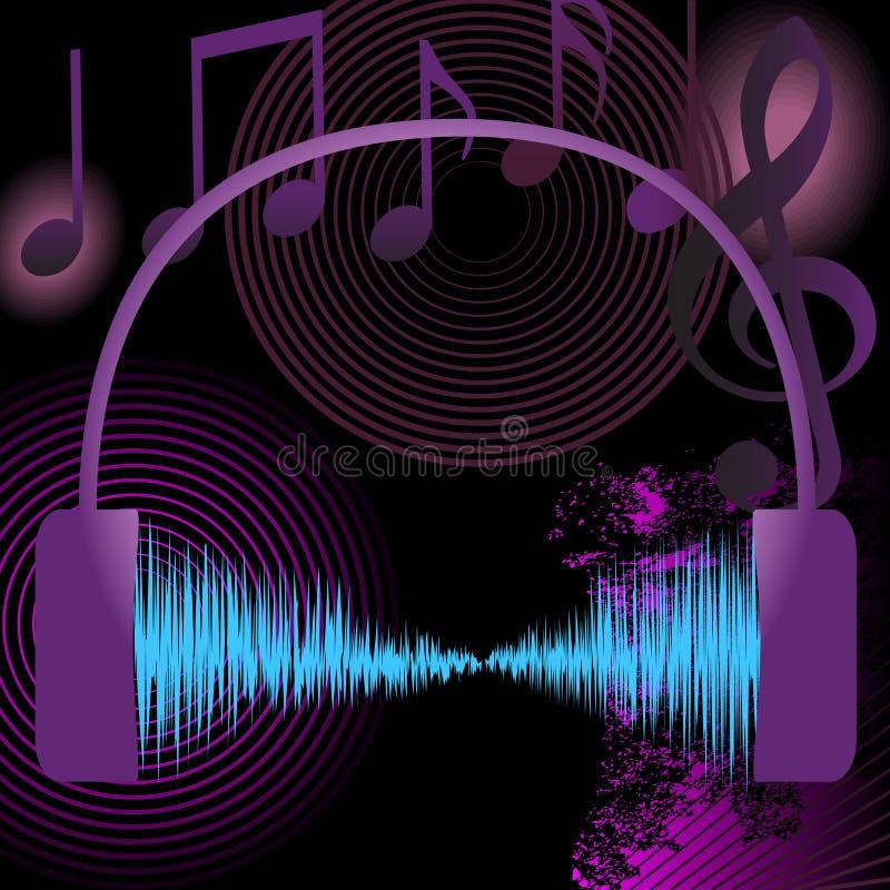 抽象背景设计要素音乐 库存例证
