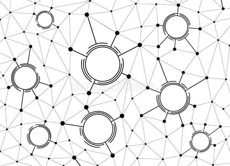 抽象背景通信和数字技术 库存例证