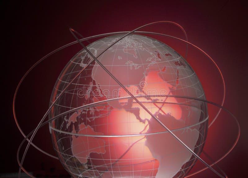 抽象背景通信纤维光学 库存例证