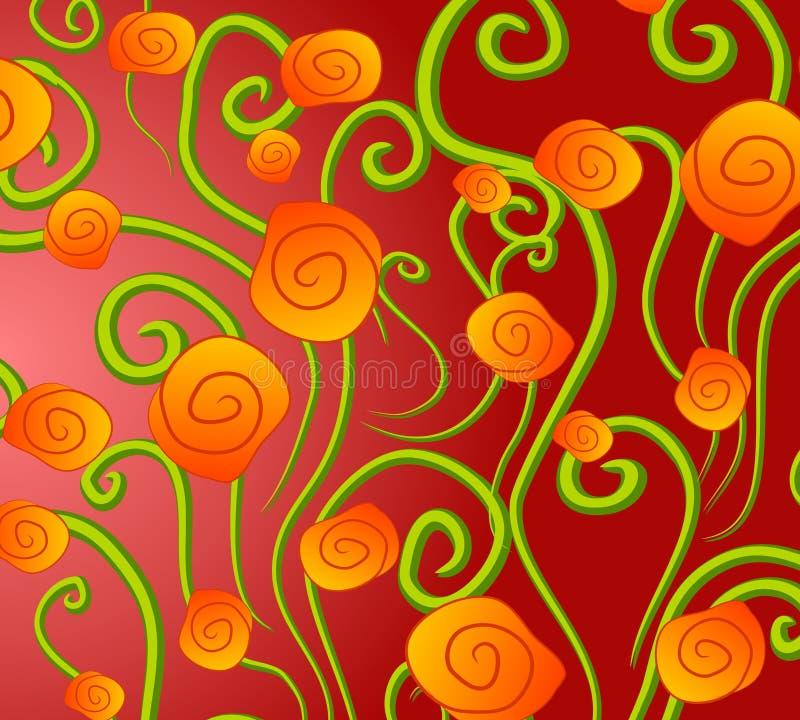 抽象背景金玫瑰 皇族释放例证