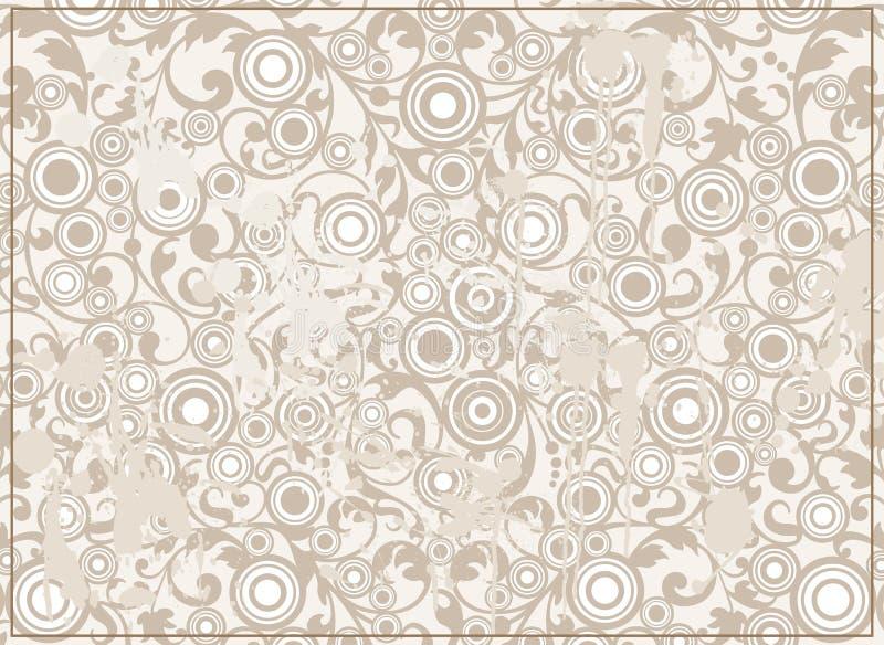 抽象背景金银细丝工的grunge装饰品 向量例证
