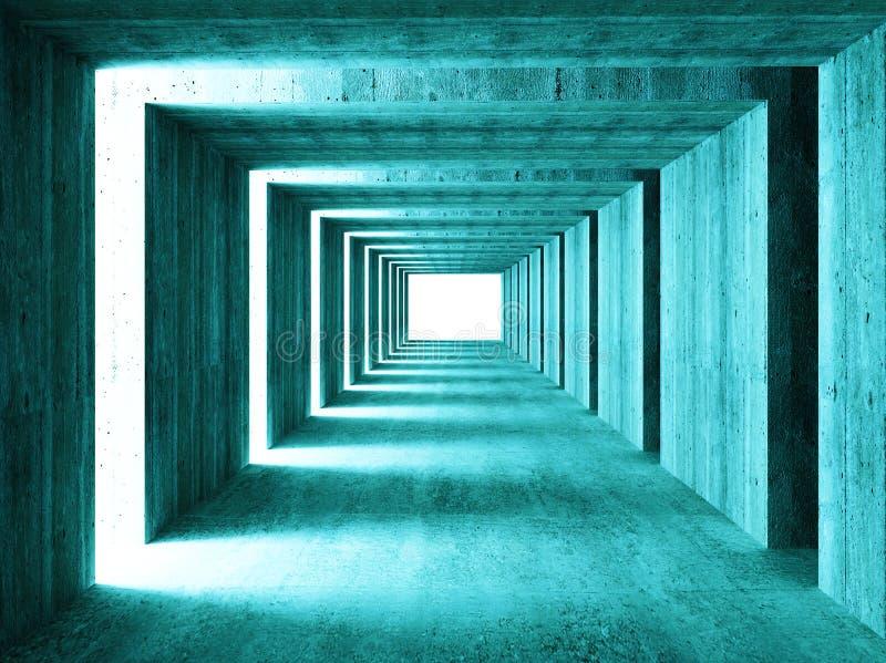 抽象背景隧道 向量例证