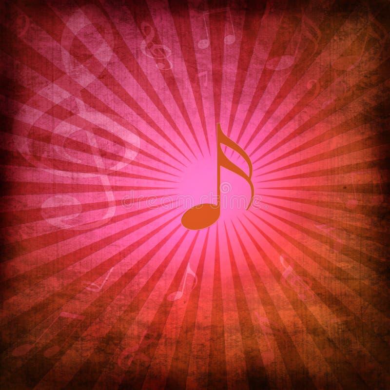 抽象背景音乐 向量例证
