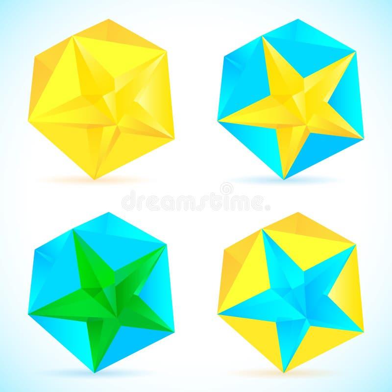 抽象背景颜色星 库存例证
